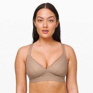 Lululemon awake to lace bra 34B tan beige new